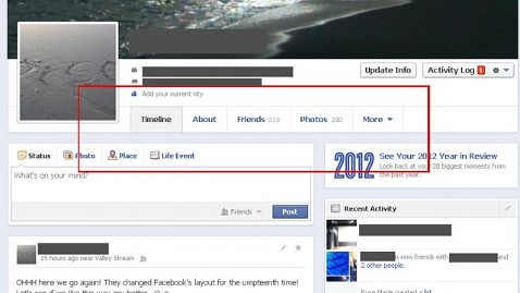facebook timekine redesign