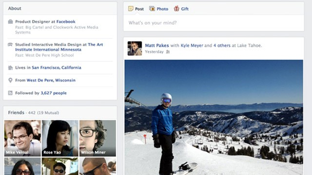 facebook working on redesign of timeline